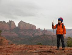 6 yr old @hawkeyehuey on assignment for @natgeotravel looking for undiscovered vortices near #CoffeePotRock in #Sedona Arizona! by natgeotravel