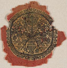 Textile  Coptic  ,  5th-6th centuries  Byzantine period, Early, c. 330-867  Creation Place: Egypt (Ancient)  Wool