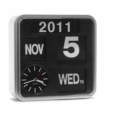 flip clock/calendar, half the price from habitat Wall Clock Calendar, Flip Calendar, Wall Clocks, Office Makeover, Mini, Best Interior, Interior Goods, Interior Design, Flip Clock