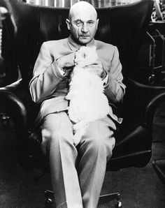 Donald Pleasence as Blofeld from James Bond You Only Live Twice James Bond Party, New James Bond, Donald Pleasence, Pierce Brosnan, Thing 1, Guys And Dolls, Bond Girls, Sean Connery, Silver Age