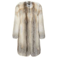 Blonde Fox Fur Coat (22,665 CAD) ❤ liked on Polyvore featuring outerwear, coats, jackets, fur, coat/jacket, brown coat, fox fur coat, christopher kane coat and christopher kane