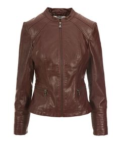 Faux Leather Peplum Jacket, Cranberry #rickis #loverickis #outerwear #coats #cozy #fall #fall2016 #fallfashion #winter #winter2017 #winterfashion #coldweatheraccessories