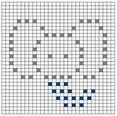 Ravelry: Elephant Bobble Chart pattern by Kari Philpott Crochet Puntada Bobble, Crochet Bobble Blanket, Bobble Stitch Crochet, Crochet Blanket Patterns, Stitch Patterns, Crochet Motifs, Crochet Blocks, Crochet Chart, Crochet Squares