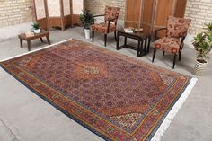 "Hooked Turkish Moroccan Persian Area Rug 6'8"" x 9'11"", Code: 070977 large rug"