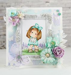 Babi's Magnolia Blog: Turquoise card