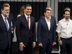 Los candidatos de los principales partidos españoles