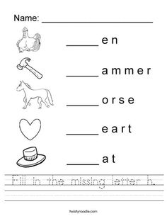 Fill in the missing letter g Worksheet - Twisty Noodle ...