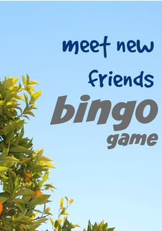 Meet New Friends Bingo Game Soothe your child's new-school-year nerves with this fun activity.