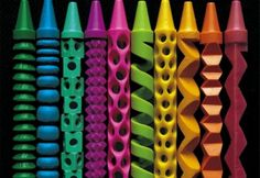 Pete Goldlust is taking crayons and carving them into amazing little sculptures!