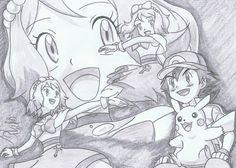 from XY-Z Episode ©Satoshi Tajiri/Nintendo Satoshi - Serena, . Pokemon Ash And Serena, Pokemon X And Y, Ash Pokemon, Pokemon Fan, Pokemon Sketch, Pikachu, Satoshi Tajiri, Ashes Love, Ash Ketchum