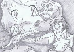 from XY-Z Episode ©Satoshi Tajiri/Nintendo Satoshi - Serena, . Pokemon Ash And Misty, Pokemon Ash And Serena, Pokemon X And Y, Ash Pokemon, Pokemon Fan, Pikachu, Pokemon Sketch, Satoshi Tajiri, Ashes Love