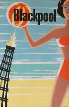 Blackpool #travel #poster 1960s