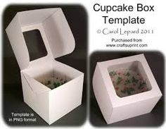 Cupcake Box Template on Craftsuprint designed by Carol Lepard – This is a great … - Paper Diy Kirigami, Printable Box, Printables, How To Make Box, Gift Cake, Box Cake, Diy Box, Gift Packaging, Craft Gifts