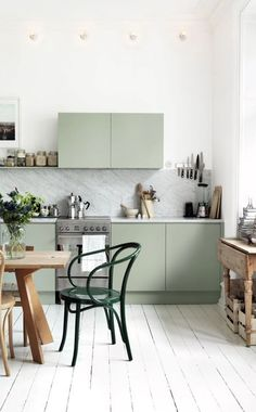 The perfect kitchen, don't you think? Furniture, Room, Dining, Dining Table, Table, Cool Stuff, Home Decor, Kitchen