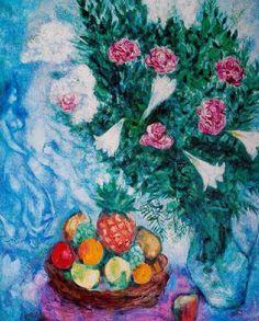 Marc Chagall「fruits et fleurs」