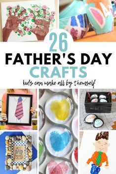 Need some simple Father's Day crafts for your kids to make? Here's a great list of fun DIY gifts for the dads in your lives. Click over to check them out. Easy Arts And Crafts, Crafts For Kids To Make, Gifts For Kids, Children's Day Craft, Easy Fathers Day Craft, Diy Father's Day Gifts, Father's Day Diy, Thumbprint Crafts, Tie Crafts