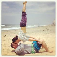 Me and my fiancé : )  #love #partneryoga #acrobatics #handstands