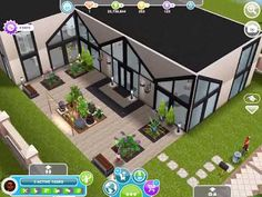 The Sims Freeplay double height mezzanine living designer house (original house design) Sims 2 House, Sims 4 House Building, Sims House Design, Sims House Plans, Casas The Sims Freeplay, Sims Freeplay Houses, Sims Free Play, Build Your Own House, Sims 4 Build