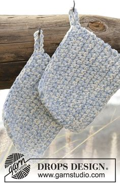 0-1300 Warm Water - free crochet potholder pattern by DROPS design.