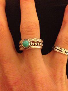 Mix and match Pandora rings!