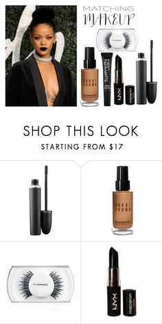 """""""Untitled #434"""" by fallin-leaves ❤ liked on Polyvore featuring beauty, MAC Cosmetics, Bobbi Brown Cosmetics, NYX and Smashbox"""