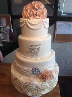 Glitzy and Glam Wedding Cake