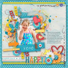 Layout using {Happy Day} Digital Scrapbook Kit by Studio Blagovesta available at Scrapbook Graphics http://shop.scrapbookgraphics.com/Happy-Day-BUNDLE.html #studioblagovesta