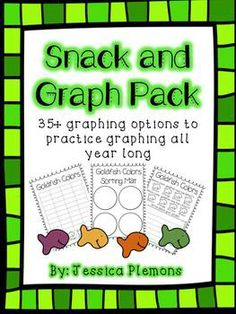 Snack and Graph Pack: A great way to practice sorting and graphing real objects while enjoying a fun snack! Students can complete graphs whole group, small group, or in a center.   There are 35+ graphs, response pages and sorting mats included for a years worth of graphing.