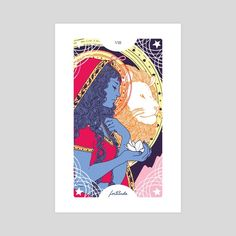 #INPRNT #illustration #print #poster #art #tarot #strength #fuerza #lion #leon #artist #illustrator