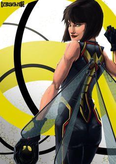 marvel the wasp | The Wasp - Marvel by SebasVishno