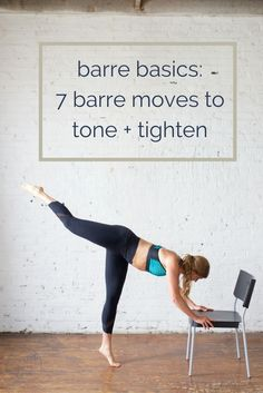 Getting fit is easy with this barre workout! These 7 barre exercises will tone and tighten your troubled areas, all while doing an at home workout you'll enjoy. Grab these barre strength training exercises as a workout for women you can do anywhere! Fitness Workouts, Yoga Fitness, Strength Training Workouts, Fitness Tips, Training Exercises, Physical Fitness, Weight Exercises, Fitness Games, Health Fitness