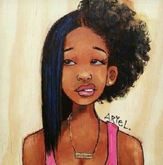 having half of your hair straightened and then realize you gotta finish the other half BLACK GIRL PROBLEMS.I'm not black but this is exactly how I feel when fixing my hair. Natural Hair Journey, Natural Hair Art, Natural Hair Styles, Natural Beauty, Natural Girls, Going Natural, Black Girl Art, Black Women Art, Black Art