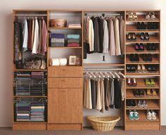 space saving: built in wardrobe
