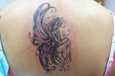 Fairy Tattoo Image On Back