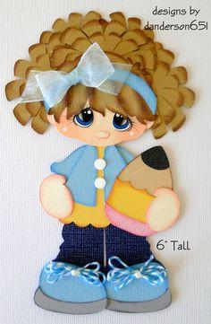 School Girl Paper Piecing  PreMade 4 Borders Scrapbooks Albums danderson651 | Crafts, Scrapbooking & Paper Crafts, Pre-Made Pages & Pieces | eBay!