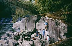 dirtlegends:  Art Lim climbing riverside near Index, WA