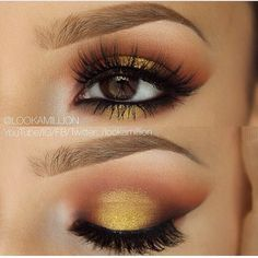 Another cute yellow-preferred eye makeup look. Very similar to the other yellow look in my 'Makeup' board.