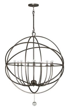 Buy the Crystorama Lighting Group English Bronze Direct. Shop for the Crystorama Lighting Group English Bronze Solaris 9 Light Wide Cage Chandelier with Clear Glass Drops and save. Wrought Iron Chandeliers, Large Chandeliers, Foyer Chandelier, Chandelier Lighting, Mini Chandelier, Farmhouse Chandelier, Silver Chandelier, Farmhouse Lighting, Vanity Lighting