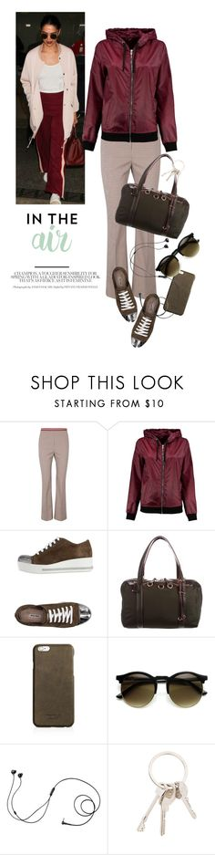 """""""in the air"""" by reginakos ❤ liked on Polyvore featuring Dorothee Schumacher, Boohoo, Miu Miu, M Z Wallace, Shinola, Marshall, Givenchy, cool, simpleoutfit and bomberjacket"""