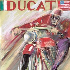 Ducati Cafe Painting