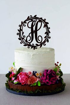Excited to share the latest addition to my shop: Monogram Cake Topper Initial Cake Topper Wedding Cake Topper Rustic Wood Cake Topper Silver Gold Cake Topper Customized Cake Topper Rustic Wedding Cake Toppers, Fall Wedding Cakes, Beautiful Wedding Cakes, Wedding Cake Designs, Autumn Wedding, Graduation Cake Designs, Perfect Wedding, Wedding Favors, Wedding Decorations