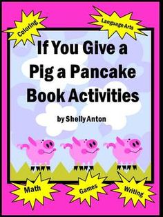Here is a 77 page unit with loads of math and literacy activities based on a kid favorite book, If You Give a Pig a Pancake by Laura Numeroff. Vocabulary is enhanced through a word wall with words and pictures. Additional reinforcement is easily provided through a file folder game with vocabulary words. Extra pages are provided for differentiation to meet all of your learner needs!