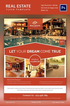 Free Real Estate Brochure Templates Best Of Real Estate Flyer Template 35 Free Psd Ai Vector Eps Real Estate School, Real Estate Ads, Real Estate Flyers, Real Estate Business, Real Estate Companies, Real Estate Investing, Real Estate Marketing, Luxury Real Estate, Flyer Poster