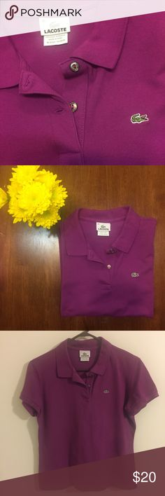 Lacoste Polo Lacoste polo, fits like a medium Lacoste Tops Button Down Shirts