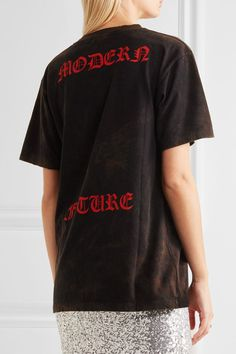 Gucci - Appliquéd Printed Cotton-jersey T-shirt - Black - xx small