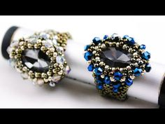 Вечернее кольцо(Часть 1/3) - YouTube Beaded Bracelet Patterns, Beaded Bracelets, Diy Beaded Rings, Bead Jewellery, Wire Jewelry, Handmade Jewelry, Ring Tutorial, Embroidery Jewelry, Jewelry Making Tutorials
