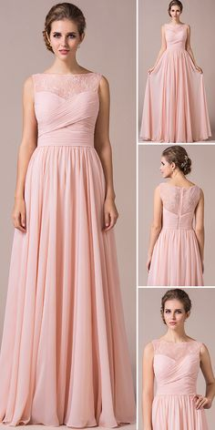 Pearl Pink Bridesmaid Dress. 32 Colours, tailor-made, customisable, many styles, check out the collection today! #JJshouse