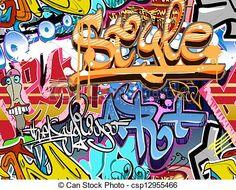 ベクター - 落書き, 壁, 都市, 芸術, ベクトル, 背景, Seamless, ヒップ, ホツプ, 手ざわり - ストックイラスト, ロイヤリティーフリーイラスト, ストッククリップアートアイコン, ロゴ, ラインアート, EPS画像, 画像, グラフィック, ベクター画像, アートワーク, EPSベクターアート