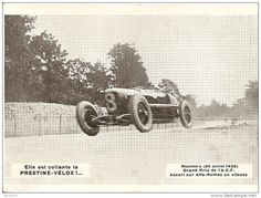 GP France (ACF) 1925 at Monthlery , Antonio Ascari with Alfa Romeo P2 #8 in wich he will suffer the fatal crash on lap 22.