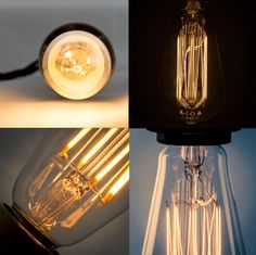 Stylish filament LED bulbs in clear & gold + coloured crown halogen lamps - we are loving our new range of LED lamps